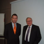 Da destra a sinistra: Martin Kannegiesser (Presidente e CEO Herbert Kannegiesser GmbH) e Alessandro Rolli (Managing Director Kannegiesser Italia S.r.l.)