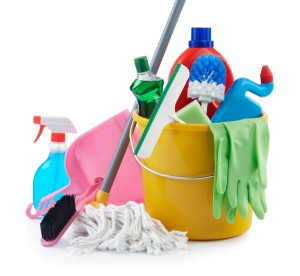 group of cleaning products