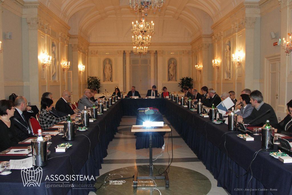 Assosistema, assemblea privata dei soci 14 dicembre 2016 e Seminario commissione parlamentare inchiesta sui rifiuti, Hotel de La Minerve Roma