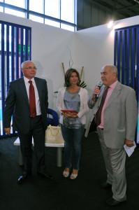 From the left: Luciano Miotto Presidente EXPOdetergo, Alessandra Moretti Eurodeputata, Michele Perini Presidente Fiera Milano